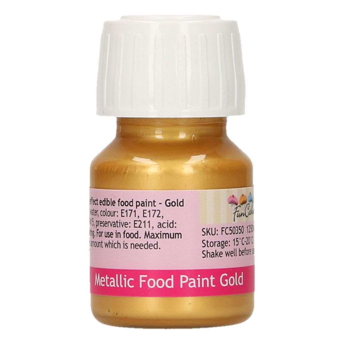 FunCakes Metallic Food Paint Gold 30ml