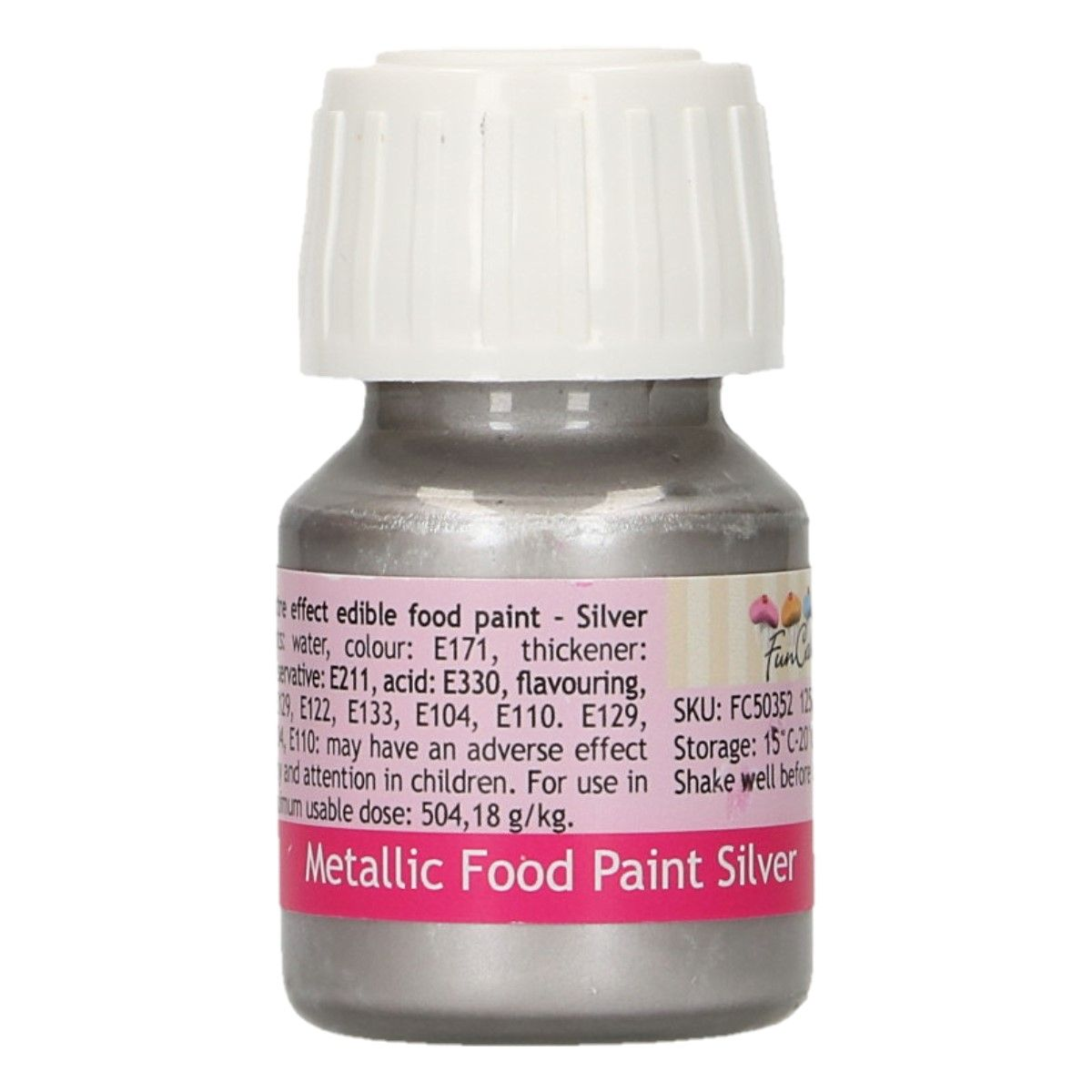 FunCakes Metallic Food Paint Silver 30ml
