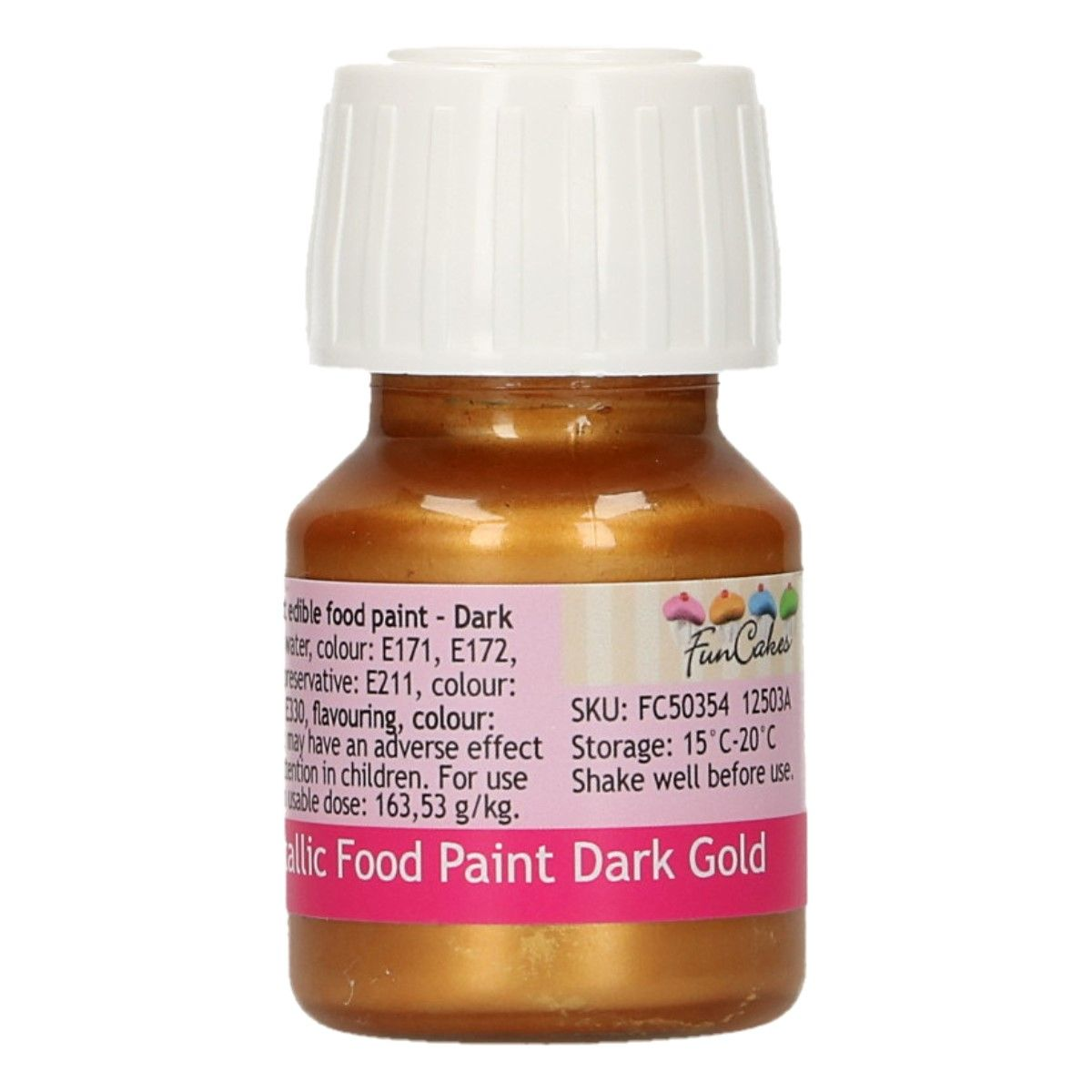 FunCakes Metallic Food Paint Dark Gold 30ml