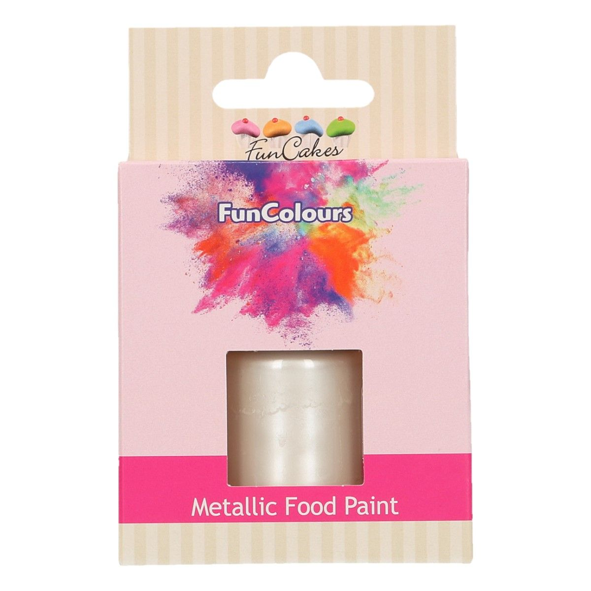 FunCakes Metallic Food Paint Pearl White 30ml