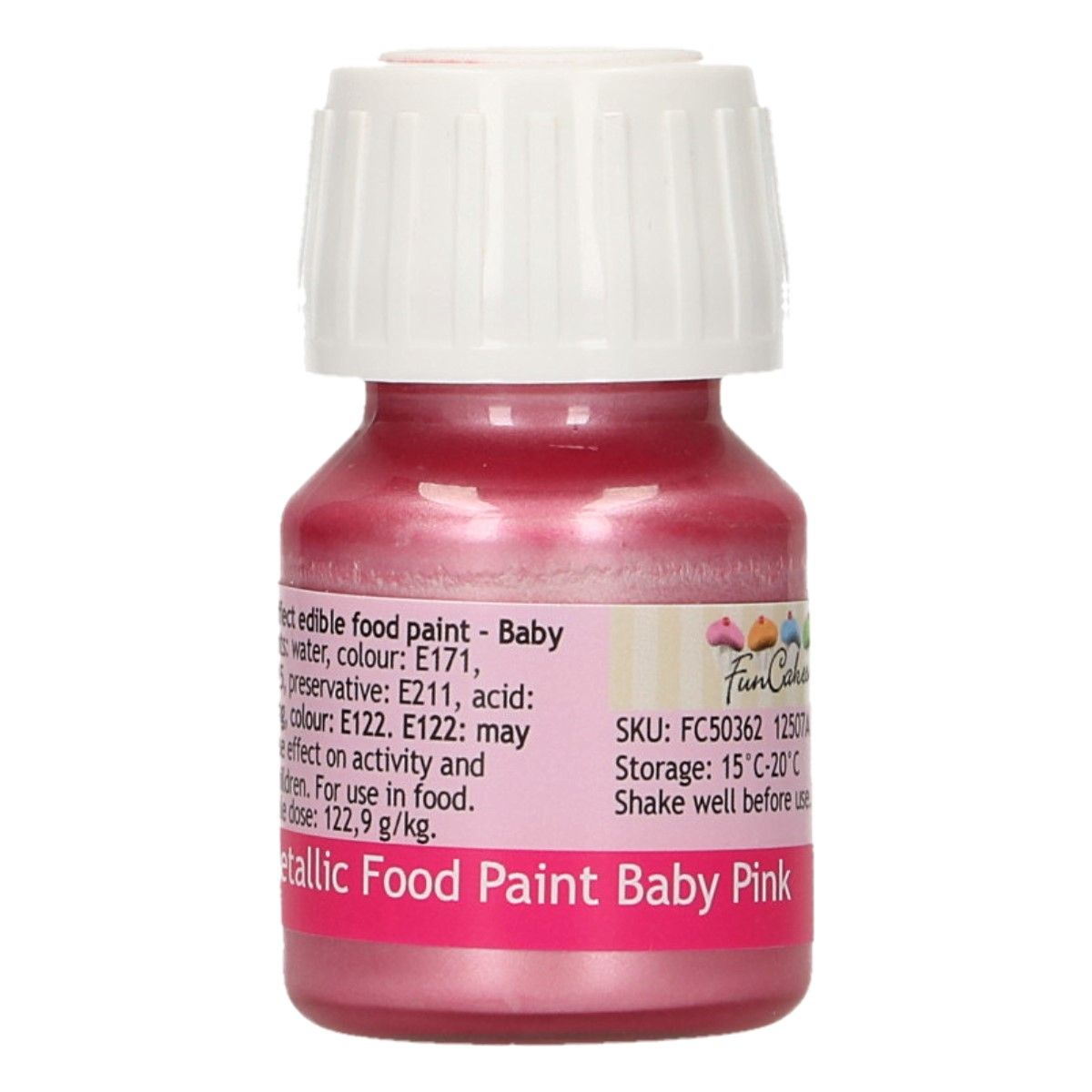FunCakes Metallic Food Paint Baby Pink 30ml