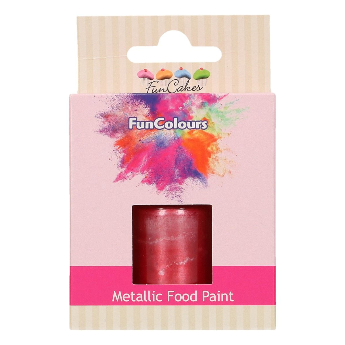 FunCakes Metallic Food Paint Cerise 30ml