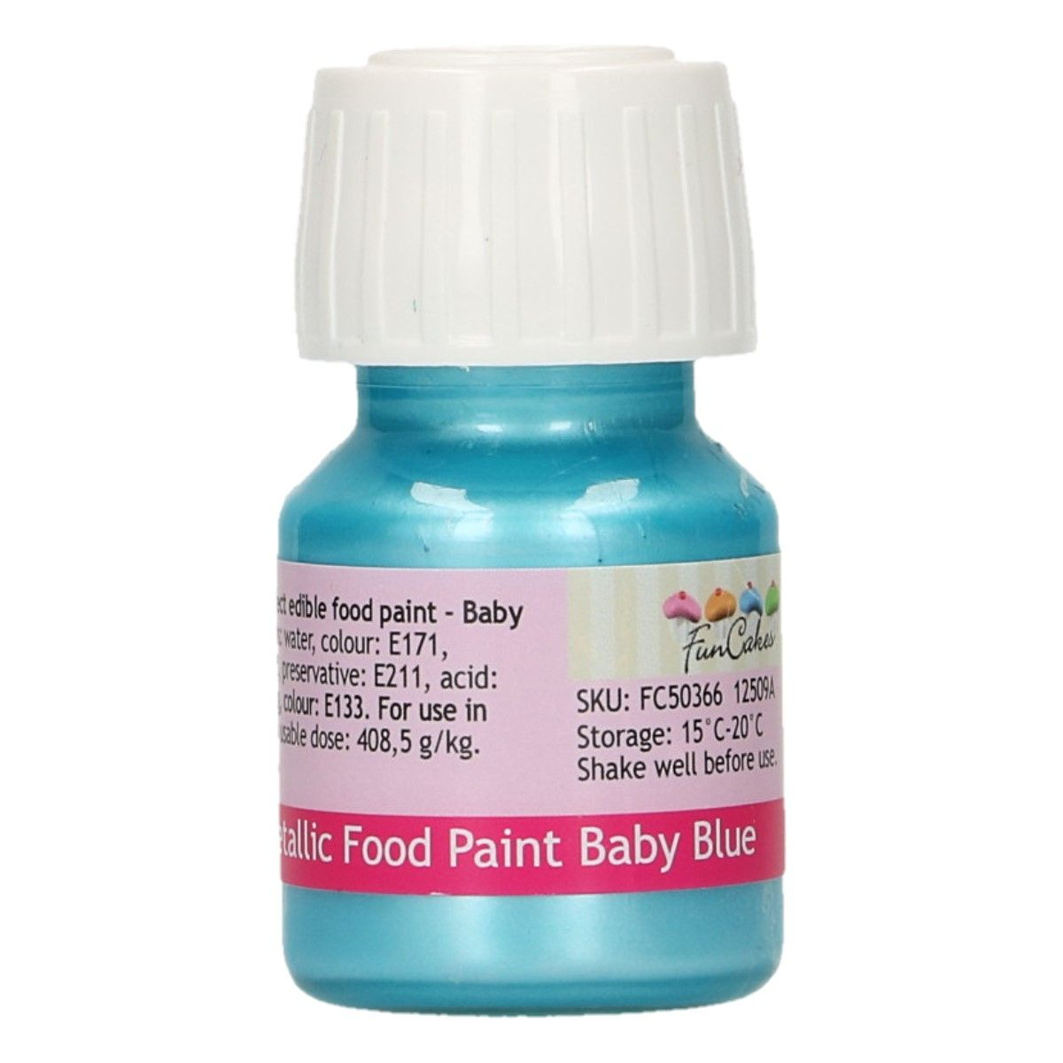 FunCakes Metallic Food Paint Baby Blue 30ml
