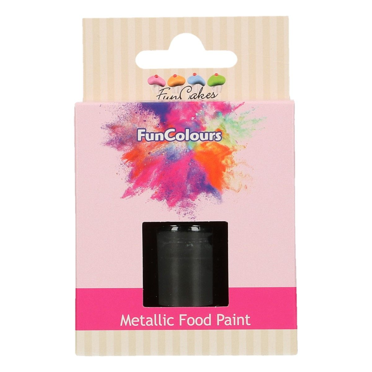 FunCakes Metallic Food Paint Black 30ml