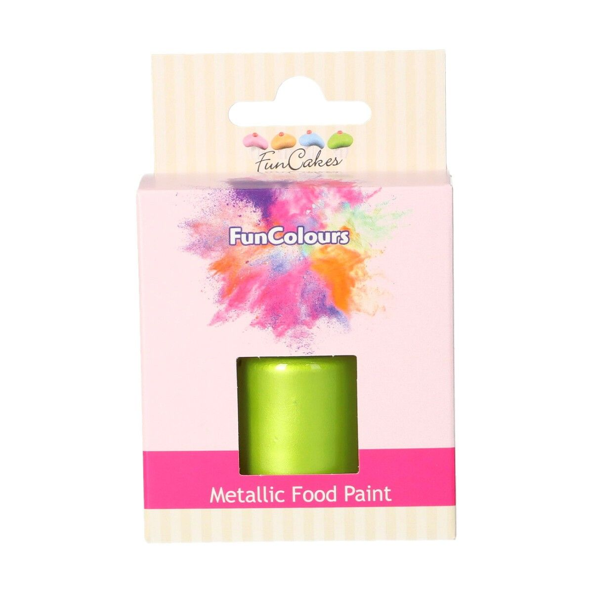 FunCakes Metallic Food Paint Spring Green 30ml