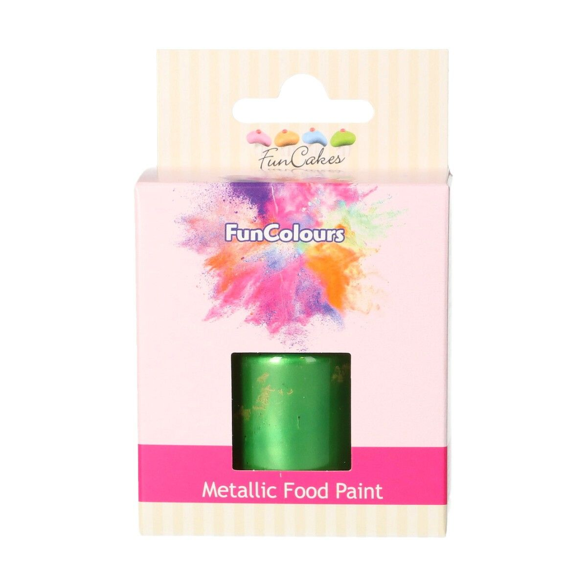FunCakes Metallic Food Paint Bright Green 30ml