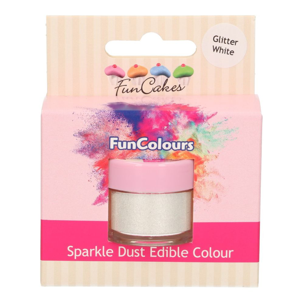 FunCakes Edible Sparkle Dust - Glitter White