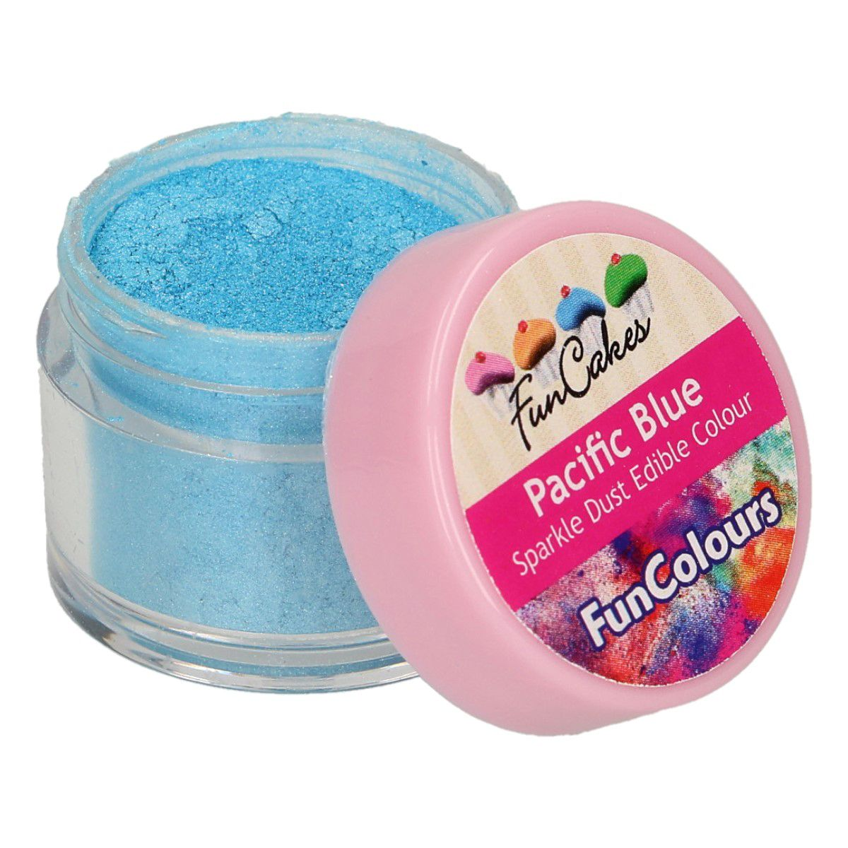 FunCakes Edible Sparkle Dust -Pacific Blue