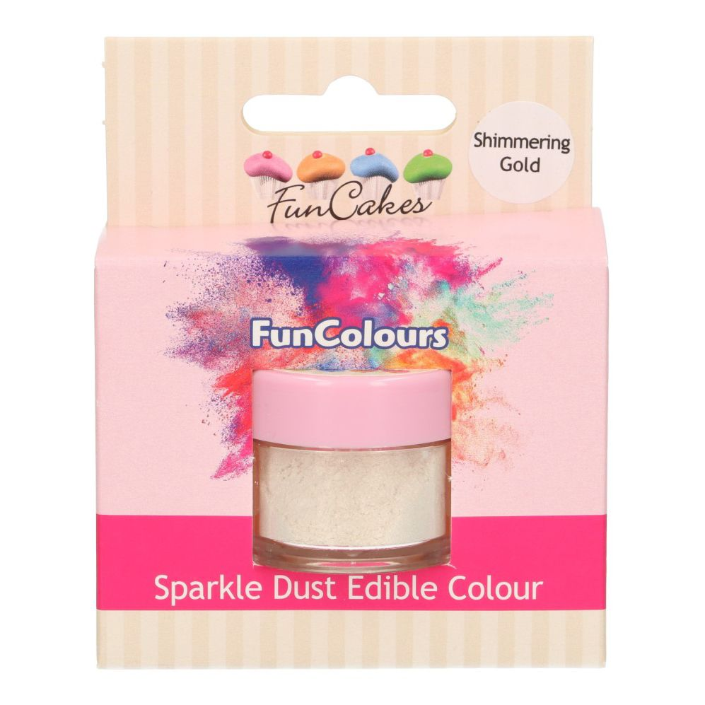 FunCakes Edible Sparkle Dust -Shimmering Gold