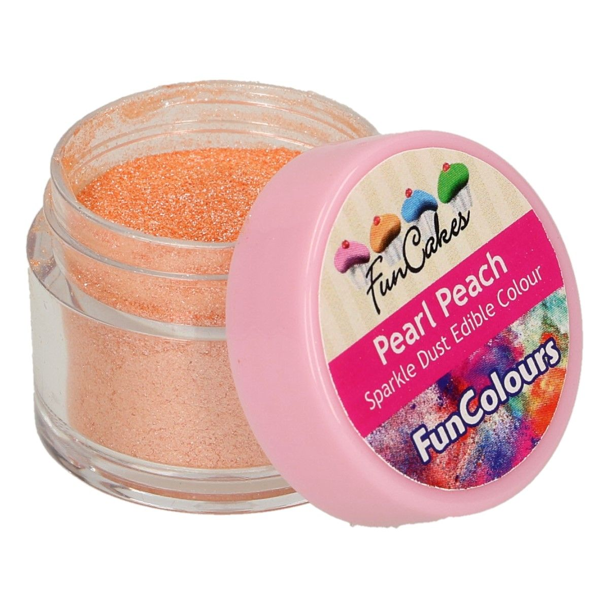 FunCakes Edible Sparkle Dust -Pearl Peach