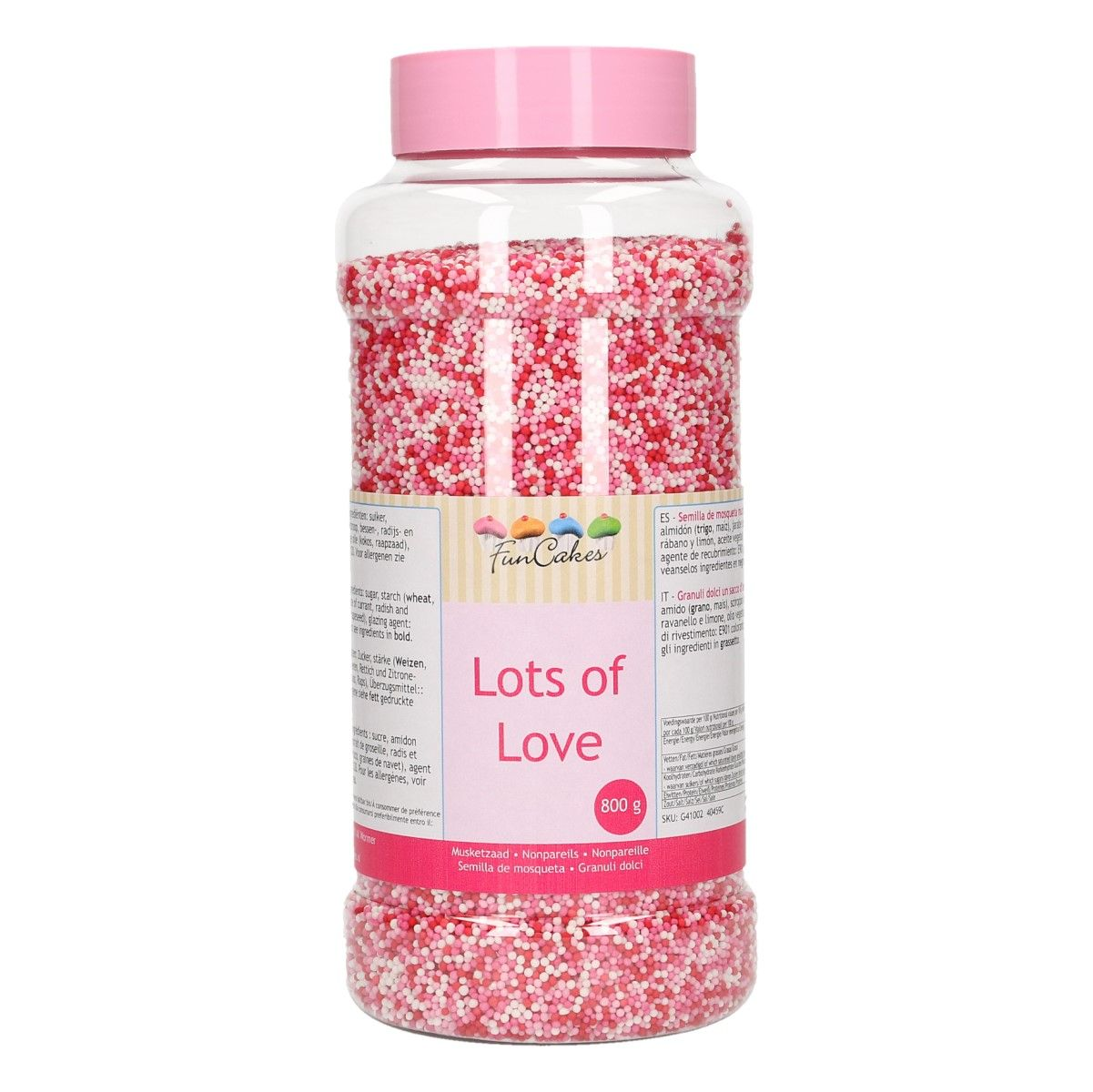 FunCakes Nonpareils -Lots of Love- 80g