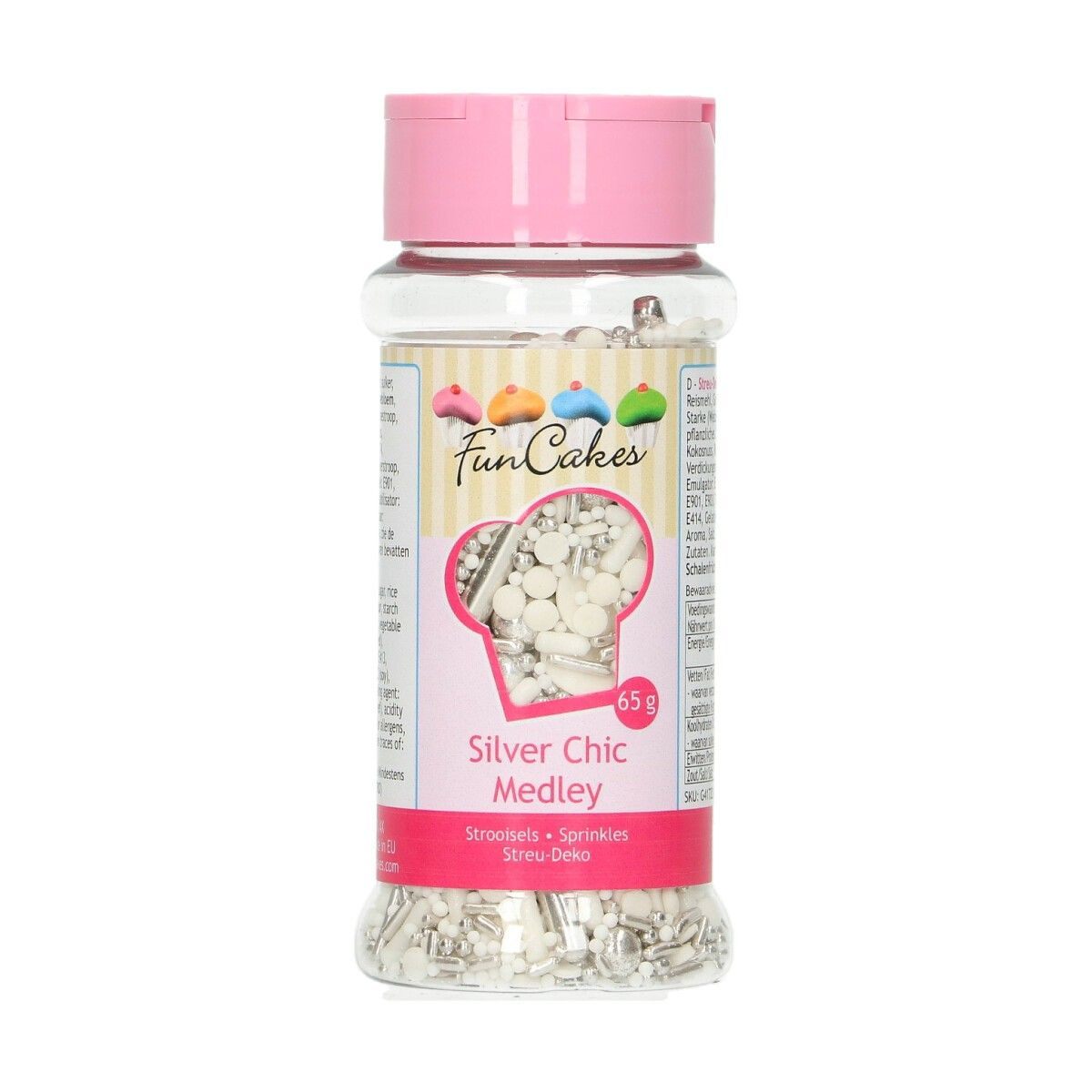 FunCakes Sprinkle Medley -Silver Chic- 65g
