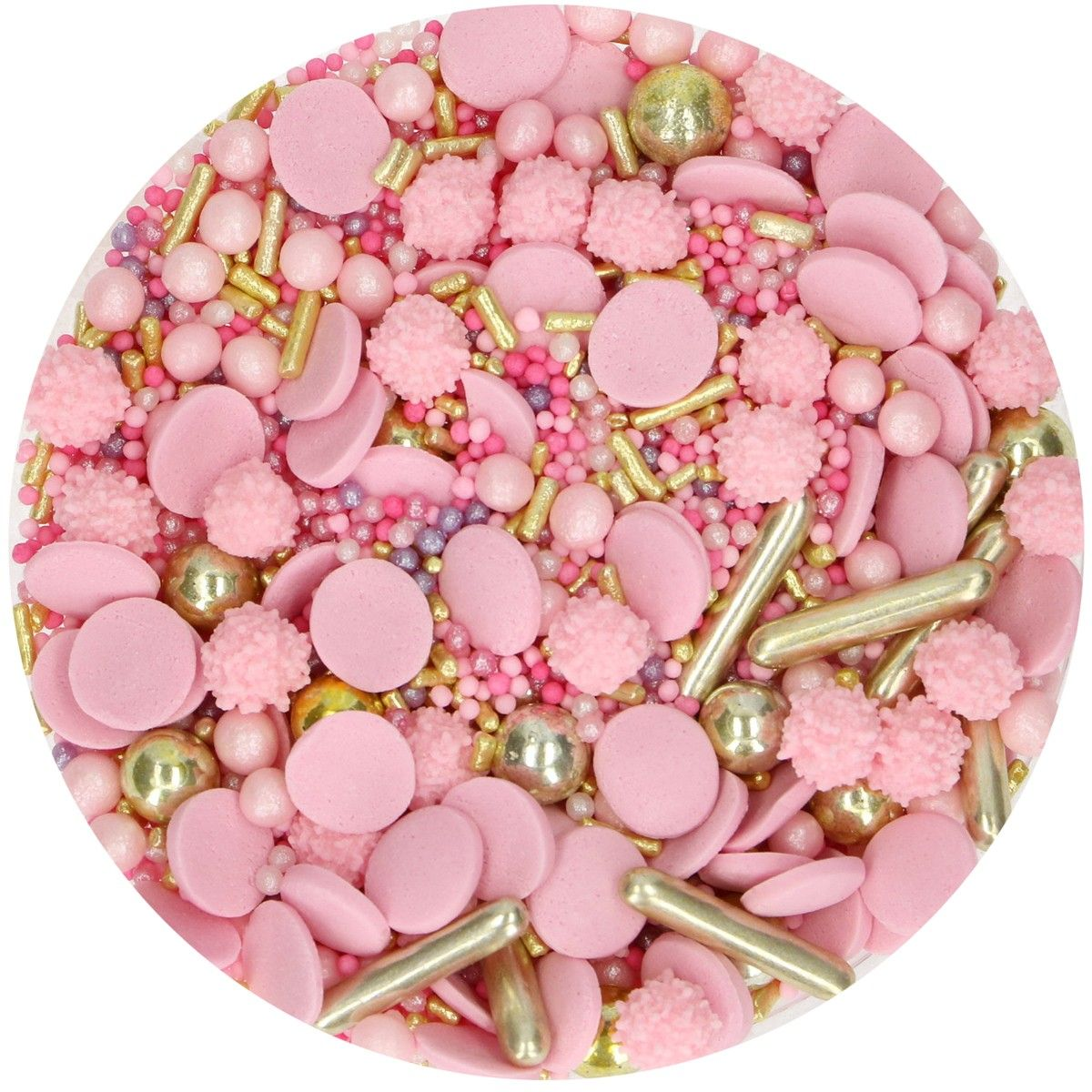 FunCakes Sprinkle Medley -Glamour Pink- 65g