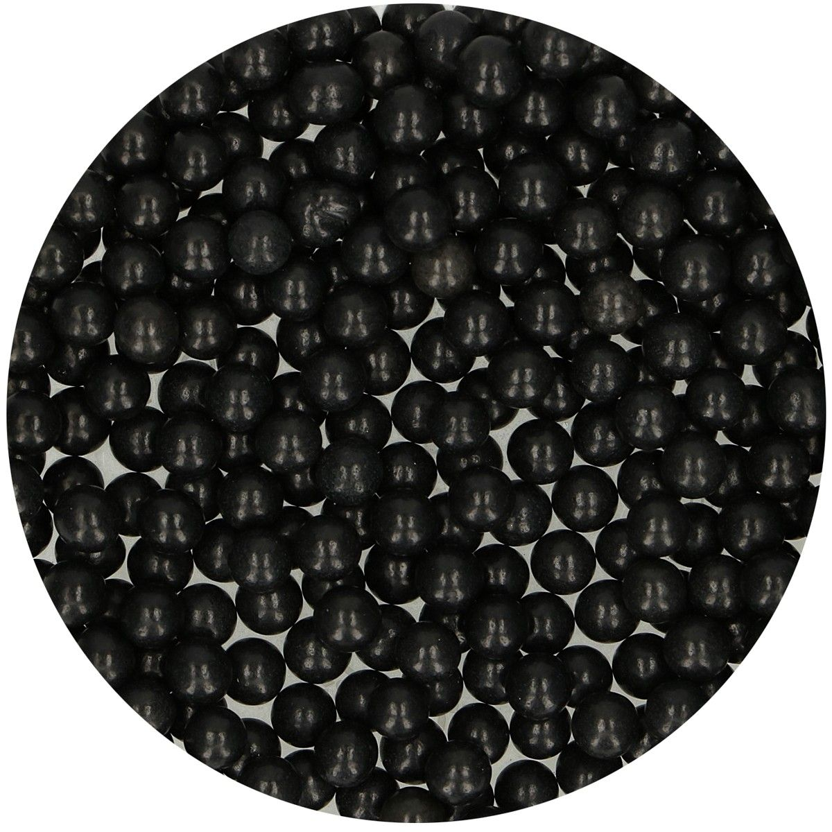 FunCakes Sugarpearls 7mm -Shiny Black- 80g
