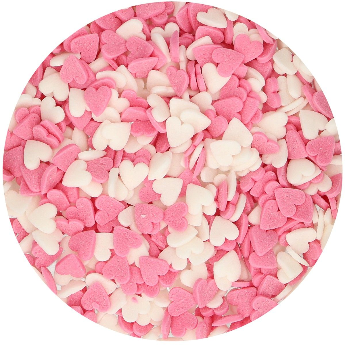 FunCakes Hearts Pink-White 60g