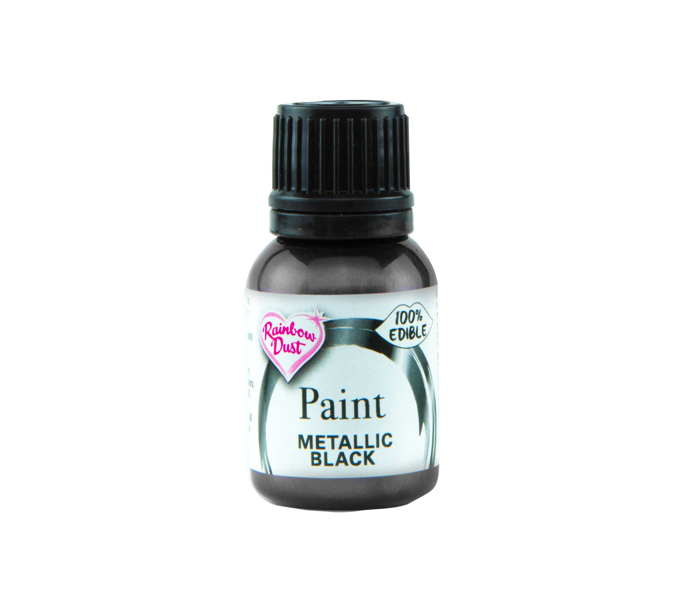 Edible Paints Metallic Black 25g