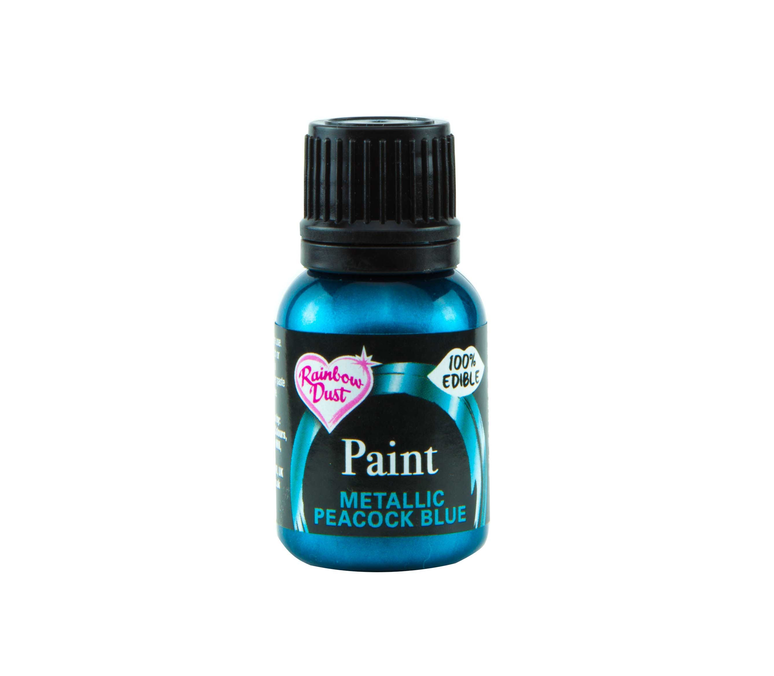 Edible Paints Metallic Peacock Blue 25g