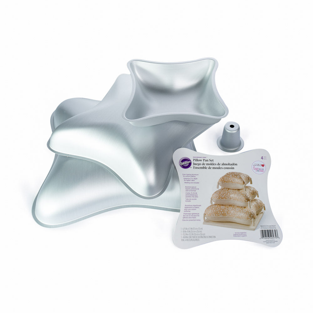 Wilton Pillow Cake Tin Set 4 Piece