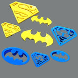 Batman Superman Cutters 4 pc