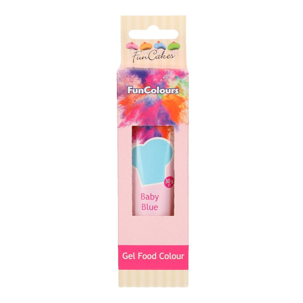 FunCakes Edible Hi Strength Gel - Baby Blue 30g
