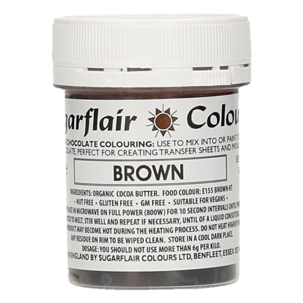 Sugarflair Chocolate Colour Brown 35g