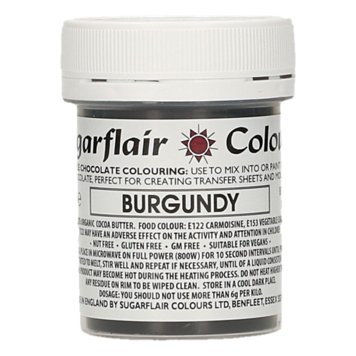 Sugarflair Chocolate Colour Burgundy 35g