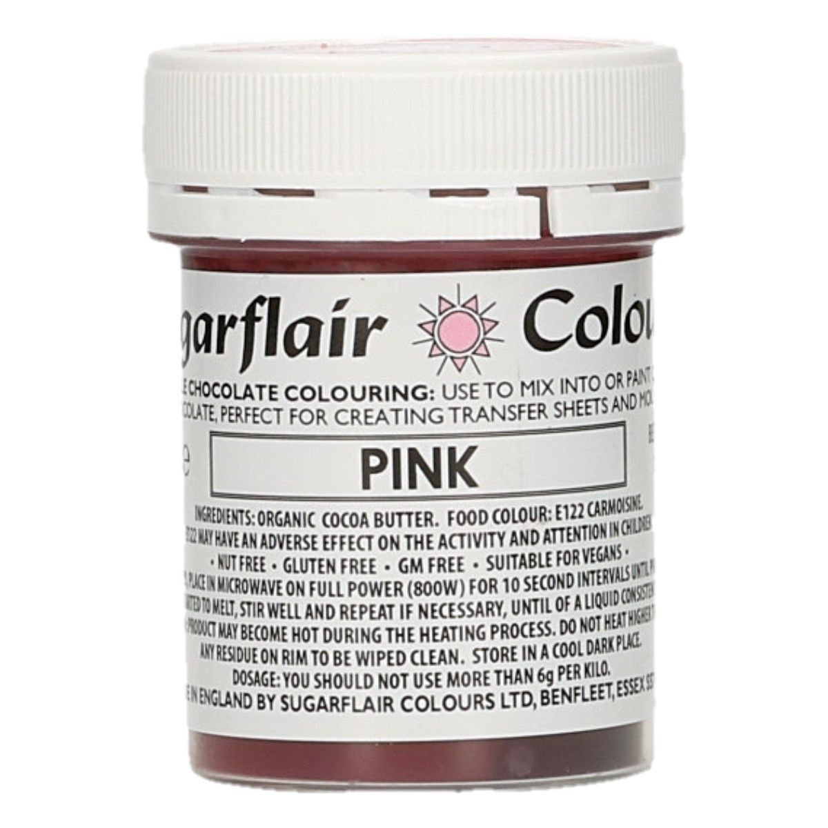 Sugarflair Chocolate Colour Pink 35g