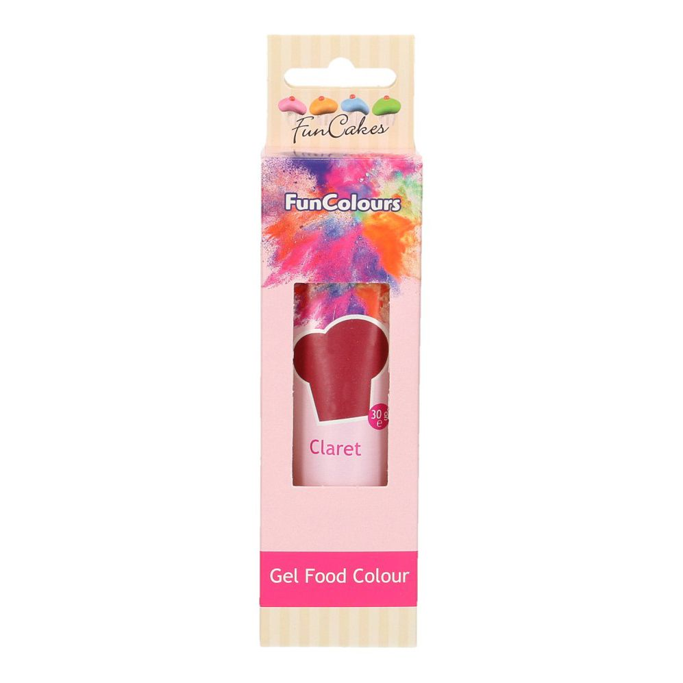 FunCakes Edible Hi Strength Gel - Claret 30g