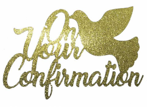 Cake Topper - Confirmation Gold
