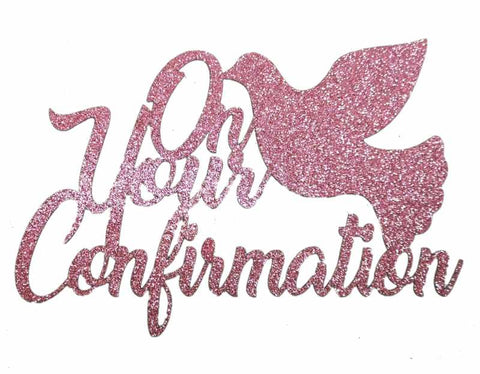 Cake Topper - Confirmation Pink