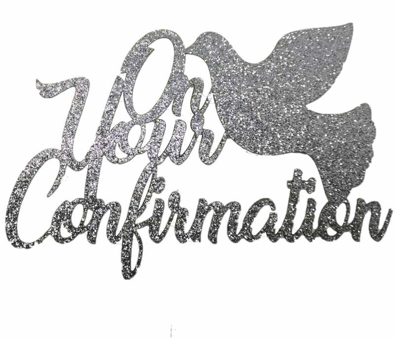 Cake Topper - Confirmation Silver