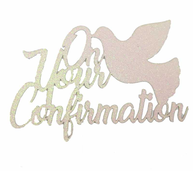 Cake Topper - Confirmation White