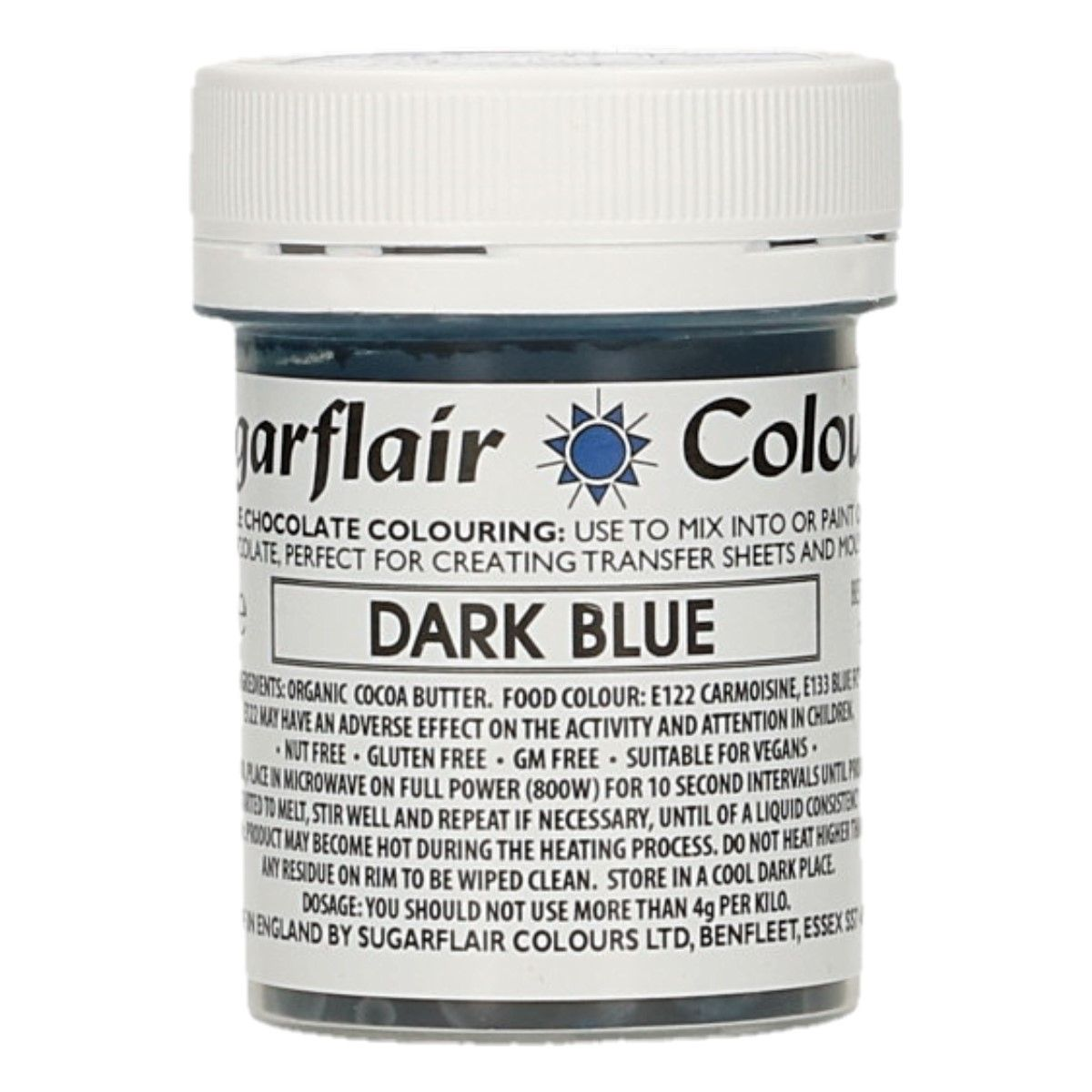 Sugarflair Chocolate Colour Dark Blue 35g