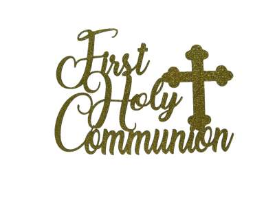 Cake Topper - Communion Gold