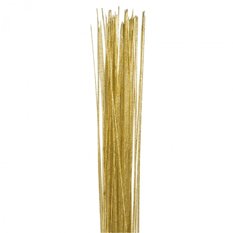 Gold Colour Floral Wire - 24g 50pk