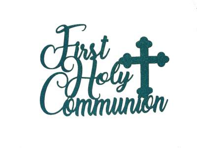 Cake Topper - Communion Blue