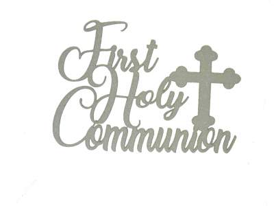 Cake Topper - Communion White