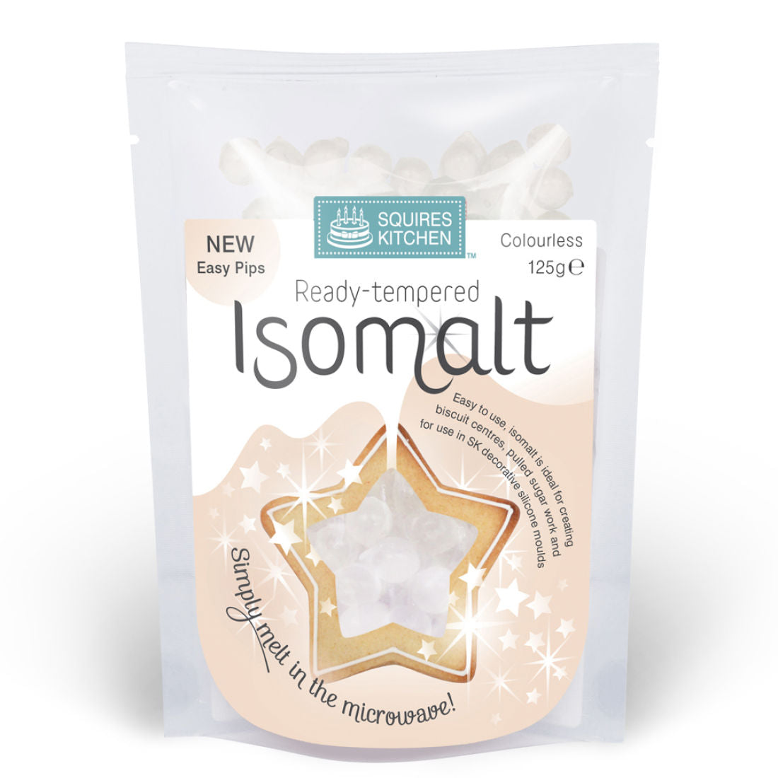 Squires Kitchen : Ready Tempered Isomalt - Clear 125g