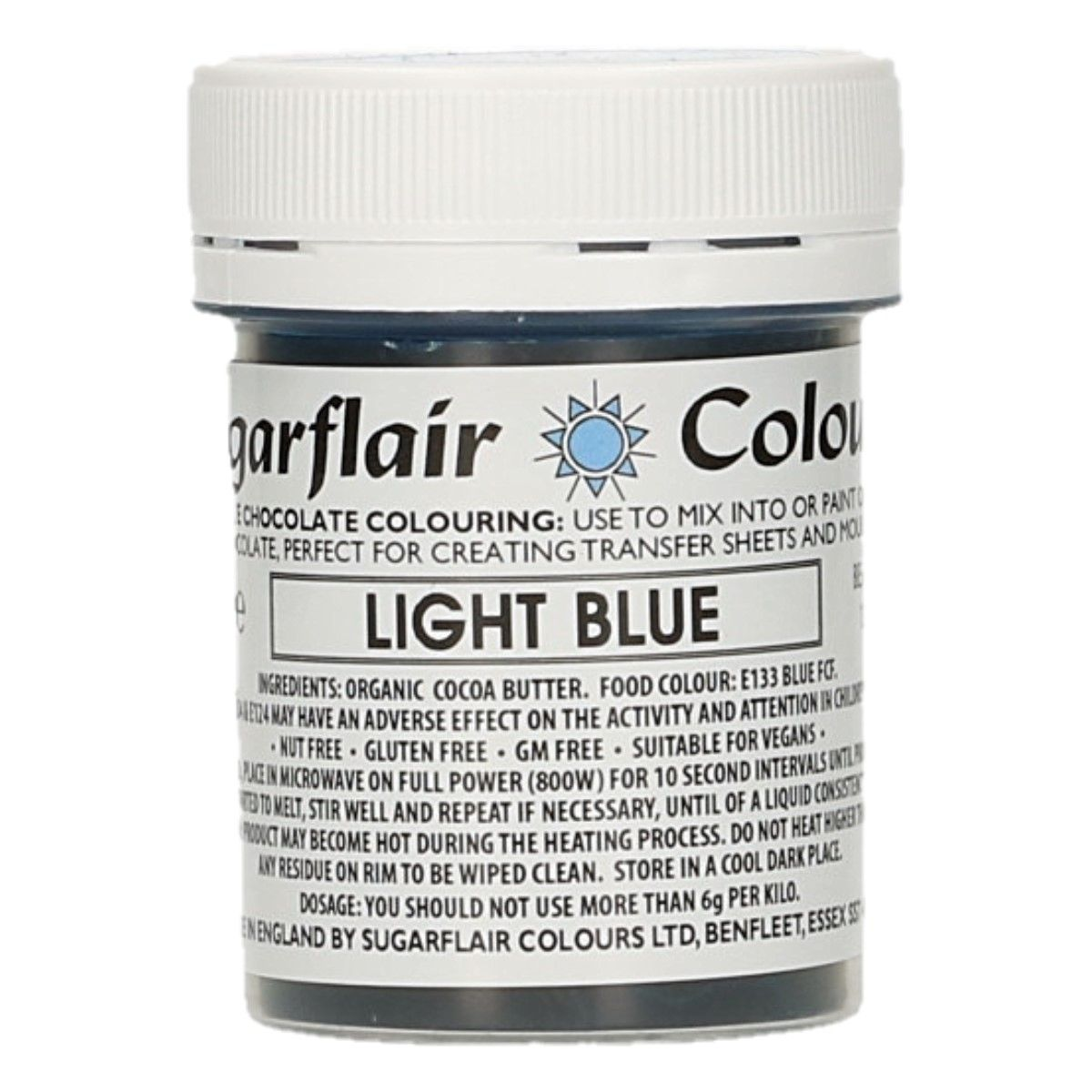 Sugarflair Chocolate Colour Light Blue 35g
