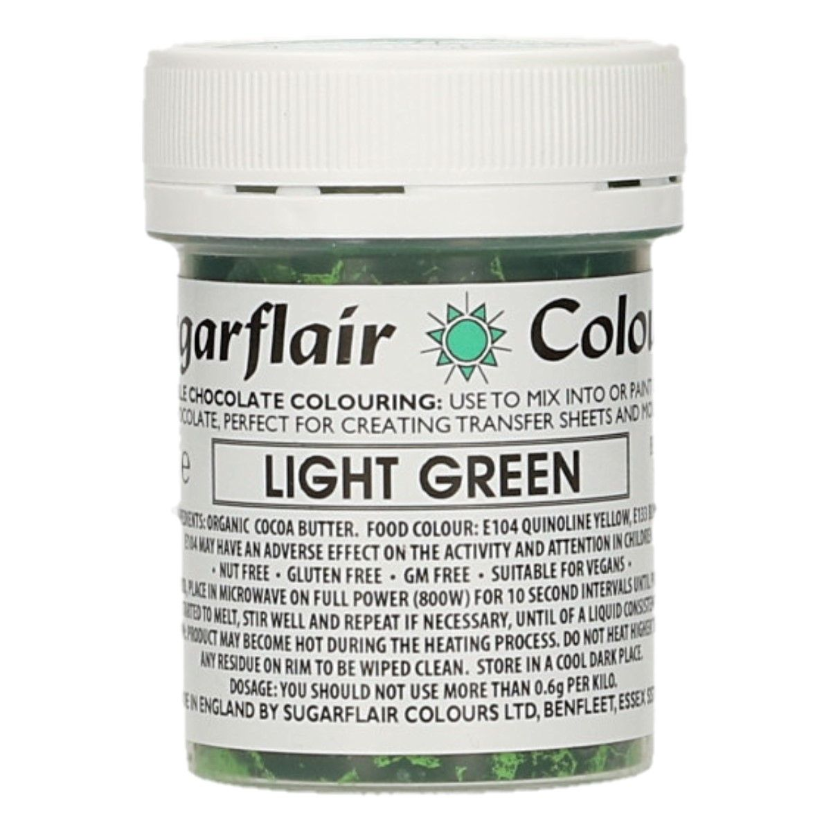 Sugarflair Chocolate Colour Light Green 35g