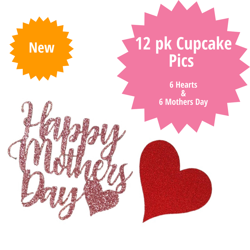 Mothers Day Cupcake Pics 12 pk