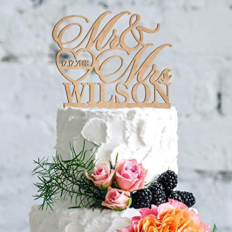 Custom Acrylic or Wood Cake Toppers (delivery included)