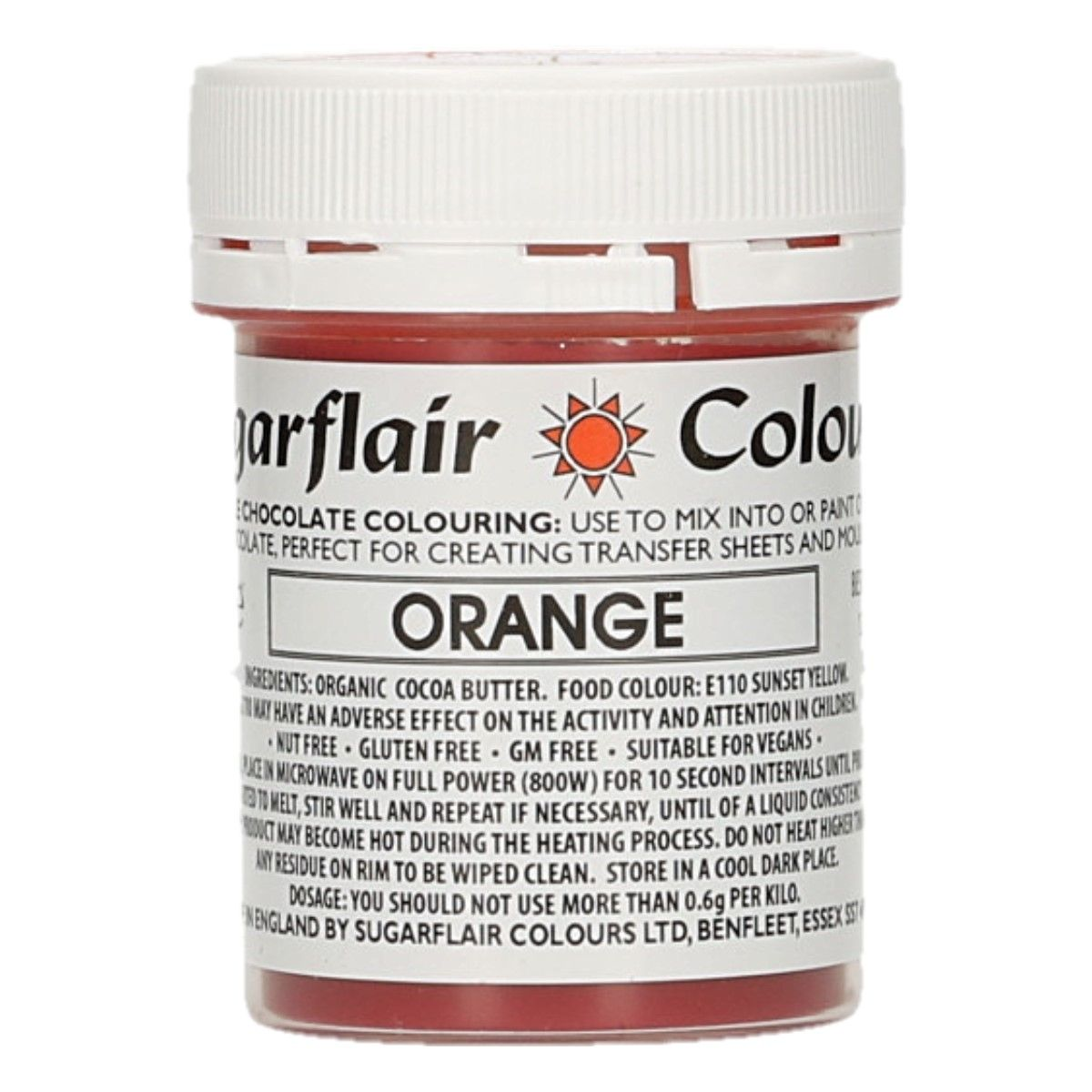 Sugarflair Chocolate Colour Orange 35g