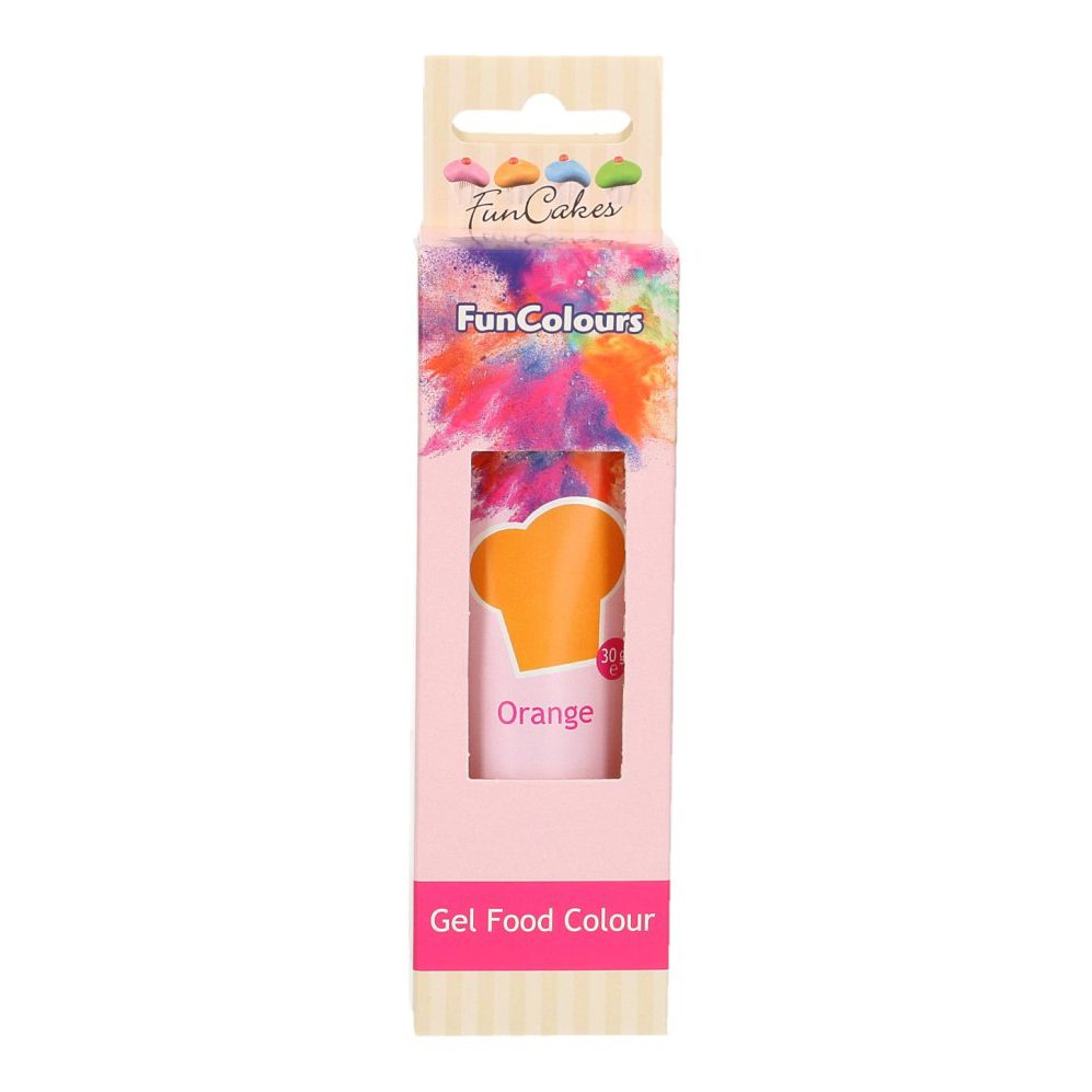 FunCakes Edible Hi Strength Gel - Orange 30g