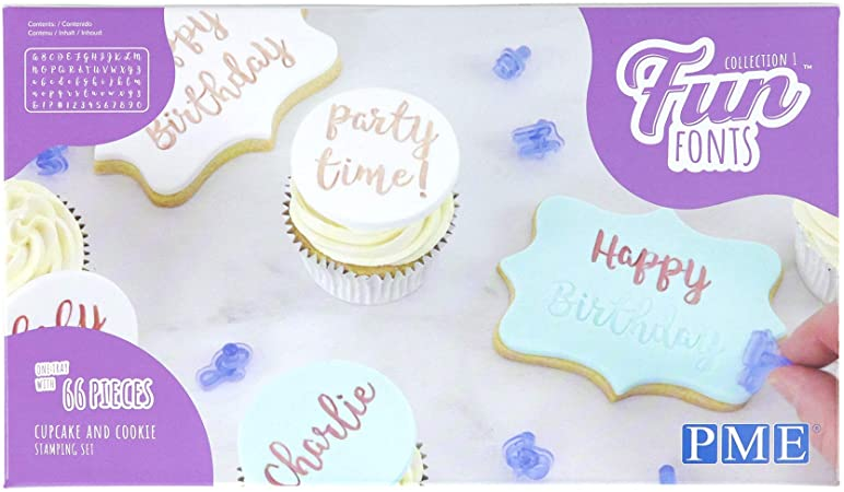 PME : Fun Fonts - Cupcakes and Cookies Stamping Set