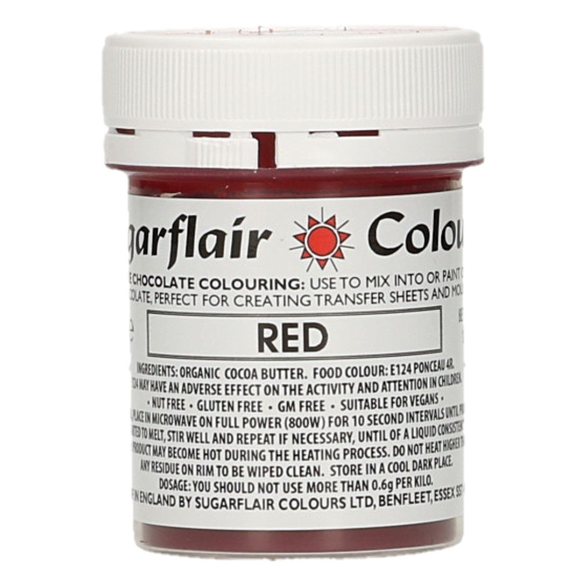 Sugarflair Chocolate Colour Red 35g