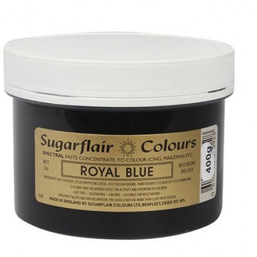 Large Sugarflair Royal Blue Paste 400g BB Dec 2026