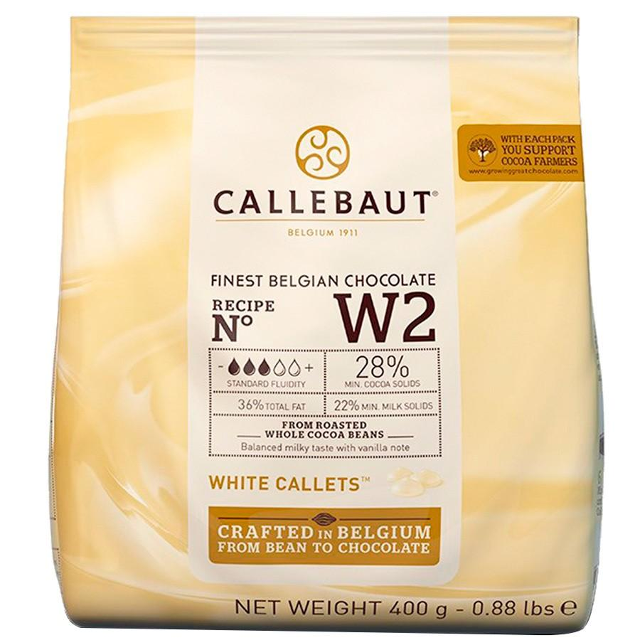 Belgian Callebaut White Chocolate 28% 400g