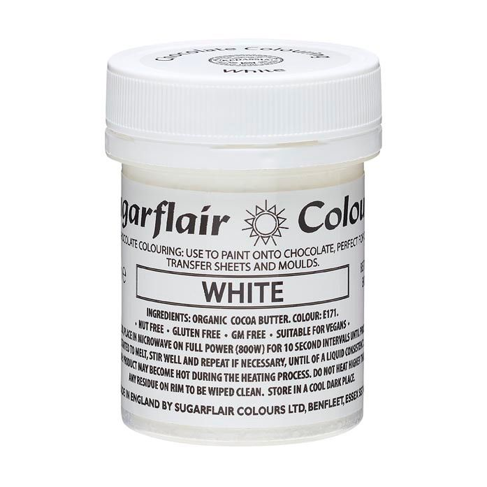 Sugarflair Chocolate Colouring Paint White 35g