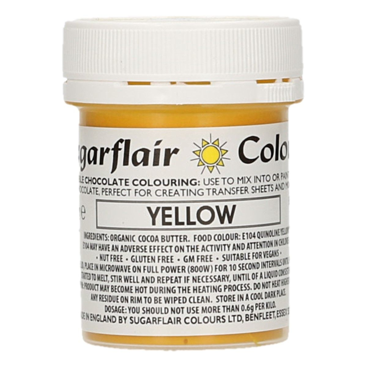 Sugarflair Chocolate Colour Yellow 35g